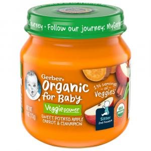 Gerber 2nd Foods Organic Sweet Potato Apple Carrot Cinnamon