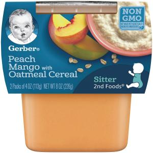 Gerber 2nd Foods Peach Mango Oatmeal Cereal