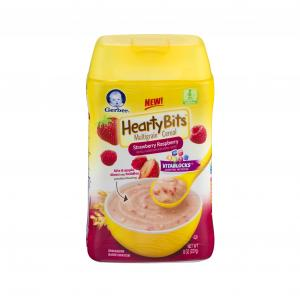 Gerber Hearty Bits Strawberry Raspberry Cereal