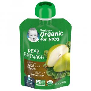 Gerber 2nd Foods Organic Pear Spinach