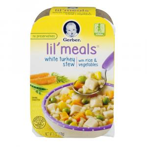 Gerber Graduates Lil' Meals White Turkey Stew With Rice &veg