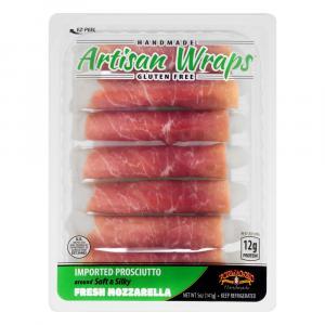 Formaggio Artisan Wraps Prosciutto and Mozzarella