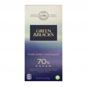 Green & Black 70% Cacao Pure Dark Chocolate
