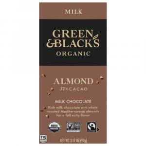 Green & Black's Organic Almonds w/Milk Chocolate Bar