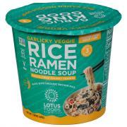 Lotus Foods Garlicky Vegetable Rice Ramen Noodle Soup