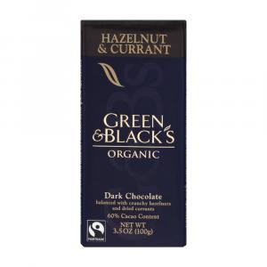 Green & Black's Organic Hazelnut & Currant Chocolate Bar