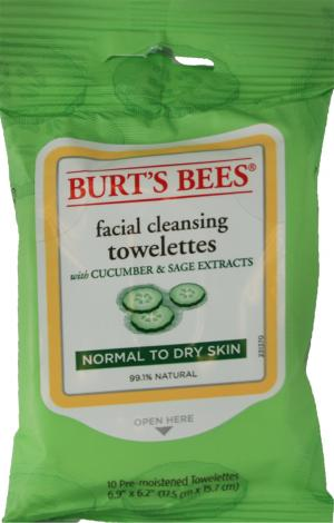 Burt's Bees Facial Cleansing Towelettes Normal to Dry Skin