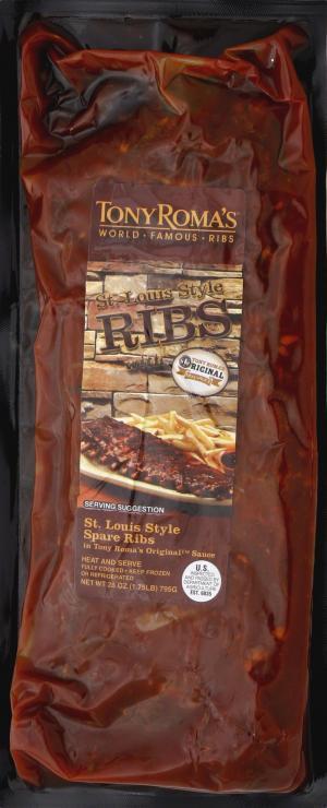 Tony Roma's St. Louis Style Pork Spare Ribs