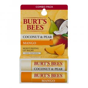 Burt's Bees Lip Balms - Coconut, Mango And Pear