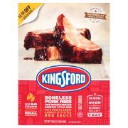 Kingsford Boneless Pork Steak Cuts with BBQ Sauce