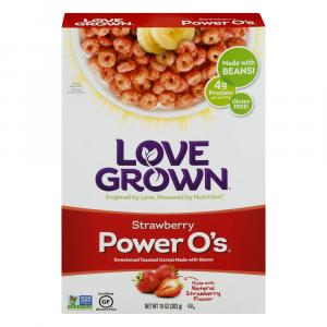 Love Grown Foods Power O's Strawberry Cereal