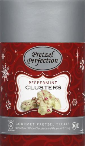 Pretzel Perfection Peppermint Clusters