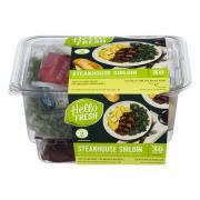 Hello Fresh Meal Kit Steakhouse Sirloin Potato Creamed Kale
