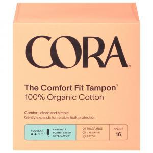 CORA Organic Cotton Regular Tampons