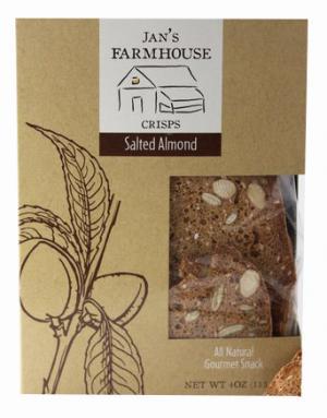 Jan's Farmhouse Crisps Salted Almond