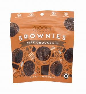 Choomi Chocolate Brownie Bites with Chopped Pumpkin Seeds