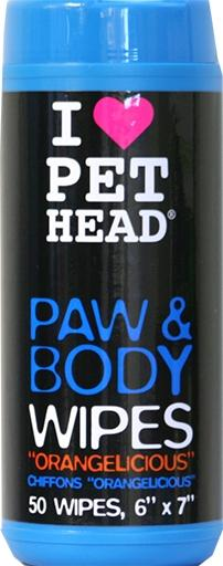 Pet Head Paw And Body Wipes Orangelicious