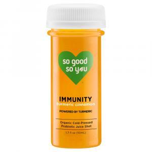 So Good So You Organic Immunity Probiotic Shot Turmeric