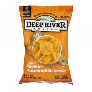 Deep River Cheddar Horseradish Kettle Chips
