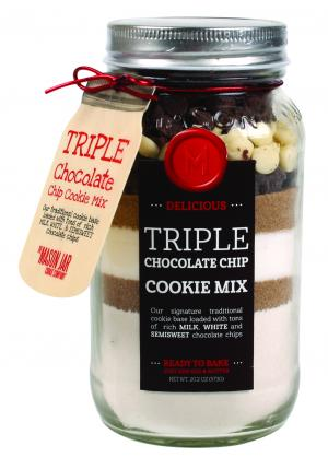 Triple Chocolate Chip Cookie Mix In A Mason Jar