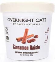 Dave's Overnight Oats Cinnamon Raisin