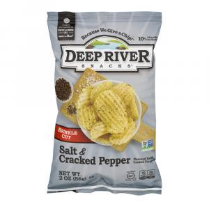 Deep River Cracked Pepper And Sea Salt Kettle Chips