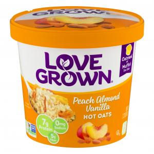 Love Grown Foods Hot Oats, Peach, Almond Vanilla