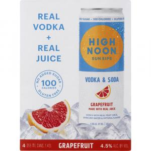 High Noon Sun Sips Vodka & Soda Grapefruit
