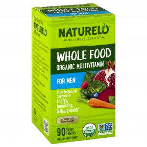 Naturelo Whole Food Organic Multivitamin for Men