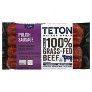 Teton Waters Grass Fed Beef Polish Sausage