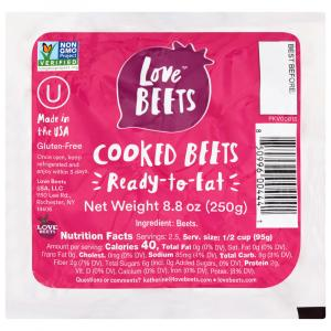 Love Beets Cooked Beets Vacuum Packed