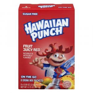Hawaiian Punch Sugar Free Fruit Juicy Red Drink Mix