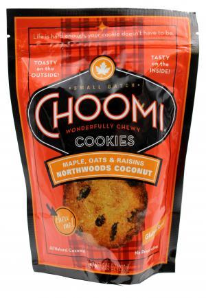 Choomi Maple, Oats & Raisins Northwoods Coconut Cookies