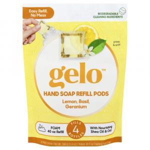 Gelo Lemon, Basil, Geranium Hand Soap Refill Pods