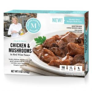 Martha Stewart Kitchen Chicken & Mushrooms In Red Wine Sauce