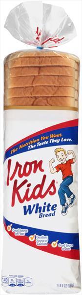 Sara Lee Iron Kids White Bread