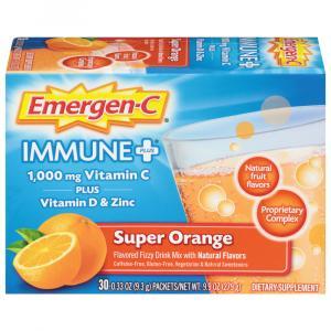Emergen-C Plus Immune Supplement Super Orange