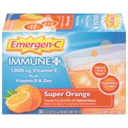 Emergen-C Plus Immune Supplement Super Orange