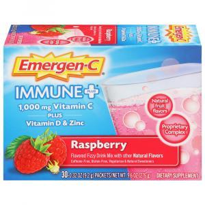 Emergen-C Plus Immune Supplement Raspberry