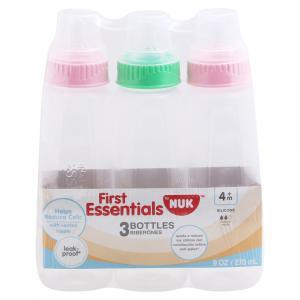 Gerber Essentials Clear View Silicone Medium Flow Bottles