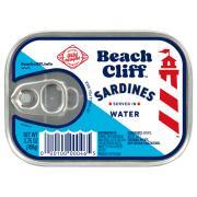 Beach Cliff Sardines in Water