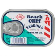 Beach Cliff Sardines in Oil