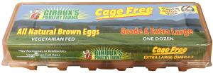 Giroux's Cage Free Extra Large All Natural Brown Eggs