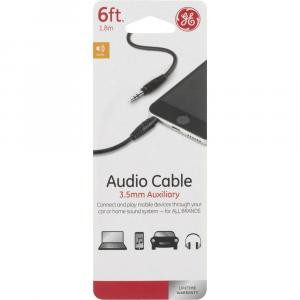 Ge 6 Foot Audio Cable 3.5mm Auxiliary