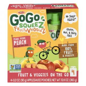 GoGo Squeeze Fruit & Veggie Apple, Peach, Sweet Potato