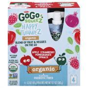 GoGo Squeez Organic Apple Strawberry Pomegranate Spinach