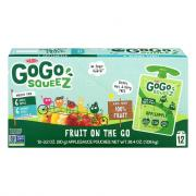 GoGo Squeez Applesauce Pouches Variety AppleApple/Gimme 5!