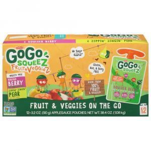 GoGo Squeez Fruit&Veggiez Variety Zippin' Zingin' Pear