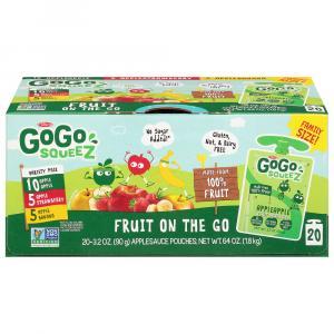 GoGo Squeeze AppleStrawberry, AppleApple, and AppleBanana