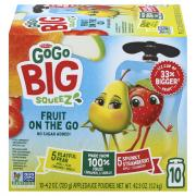 GoGo Squeeze No Sugar Added Pear & Strawberry
